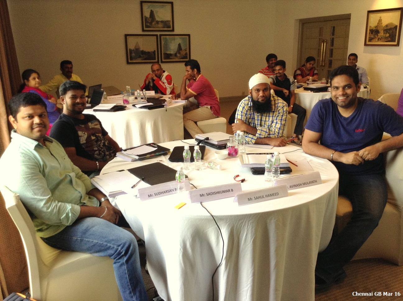 Chennai GB Mar 16 - Team Contest Winners