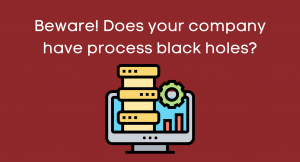 Announcement: Beware! Does your company have process black holes?