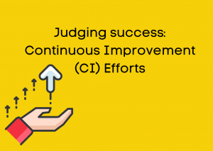 Judging success: Continuous Improvement (CI) Efforts
