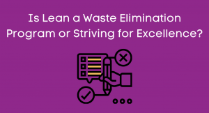 Is Lean a Waste Elimination Program or Striving for Excellence?