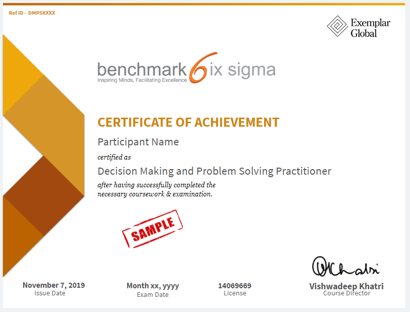 Decision Making And Problem Solving Practitioner Certificate